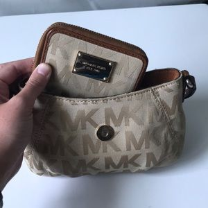 Michael Kors MK purse and wallet